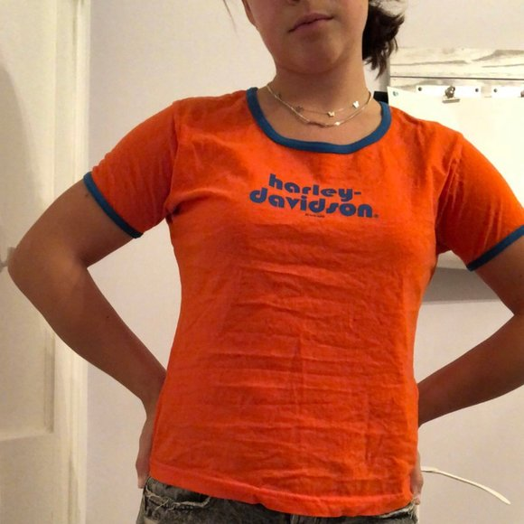 vintage 80s harley davidson T shirt